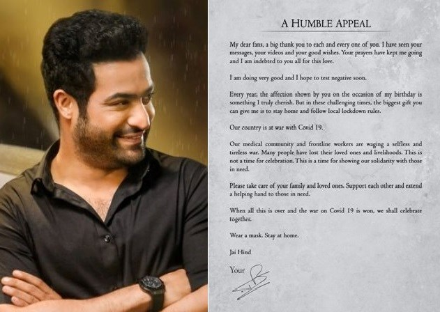 Biggest Gift You Can Give Me Is To Stay Home Urge Jr. NTR